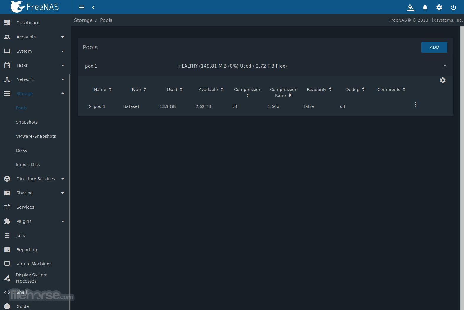 FreeNAS 12.0-U4 Screenshot 2
