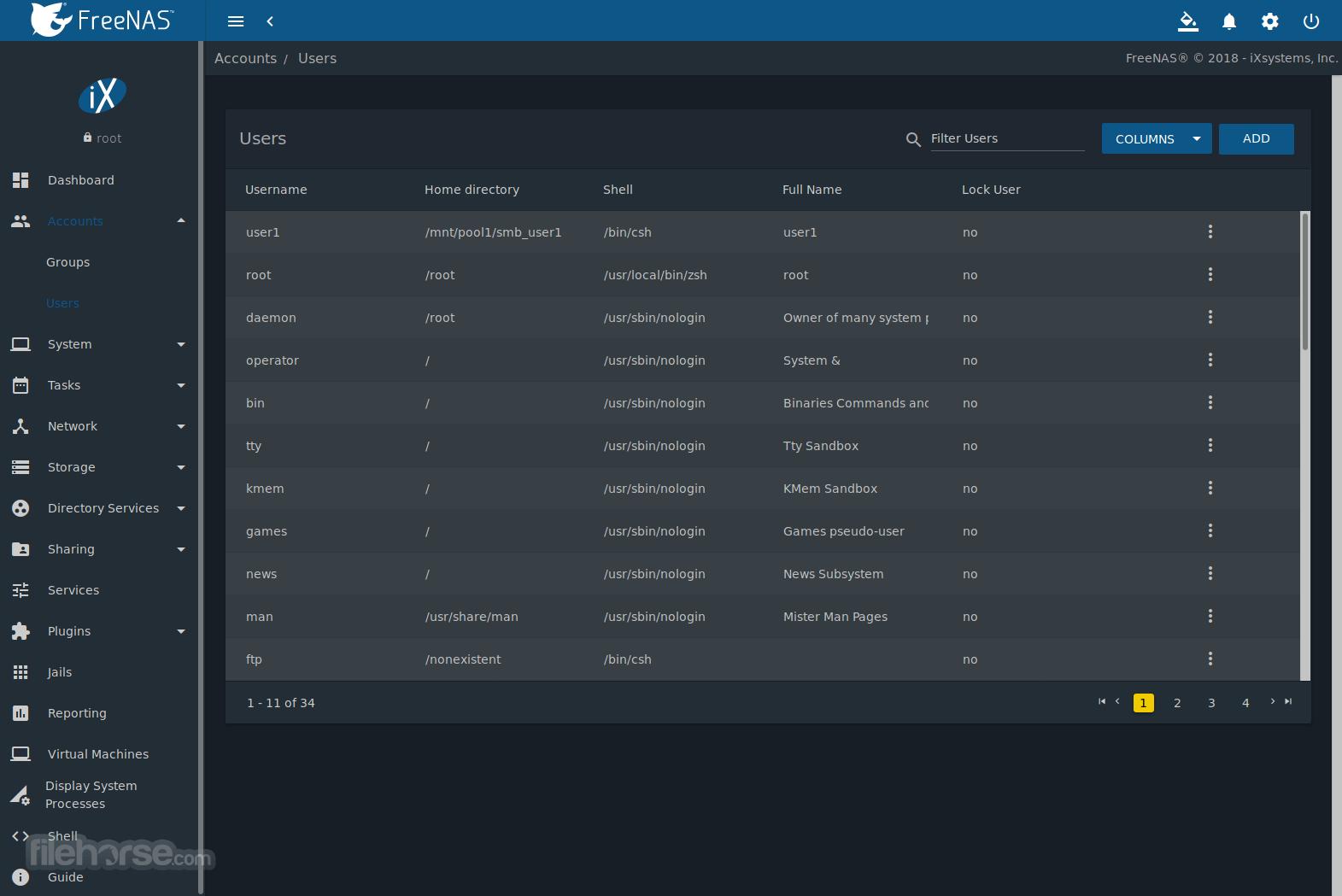 FreeNAS 12.0-U4 Screenshot 4