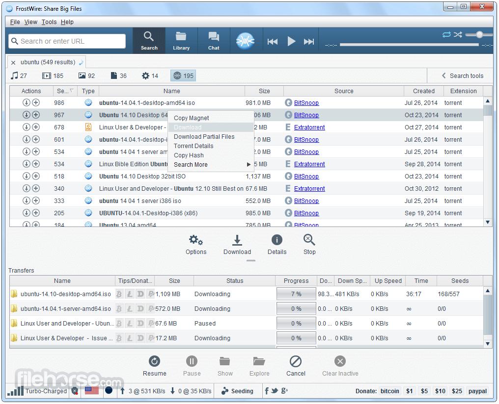 FrostWire 6.9.4 Screenshot 3