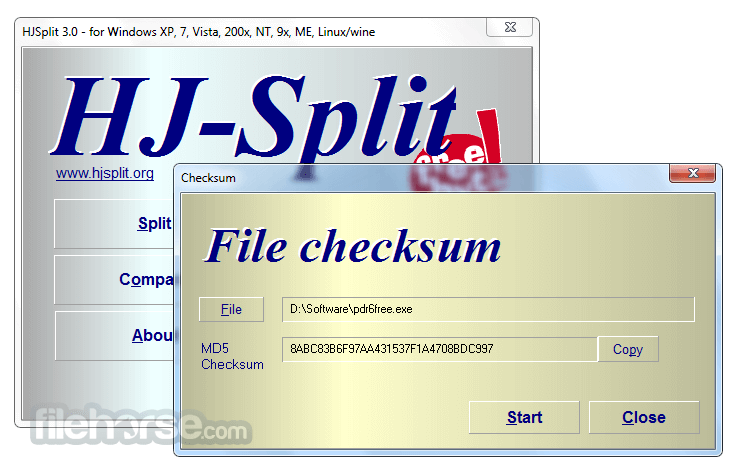HJSplit 3.0 Screenshot 5