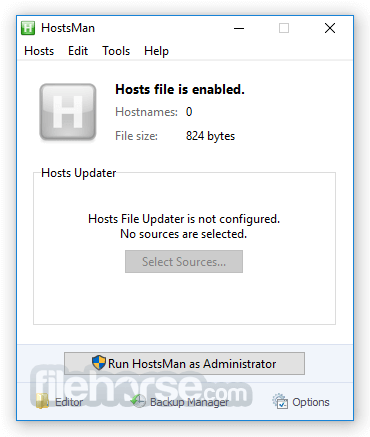 HostsMan 4.7.105 Screenshot 1