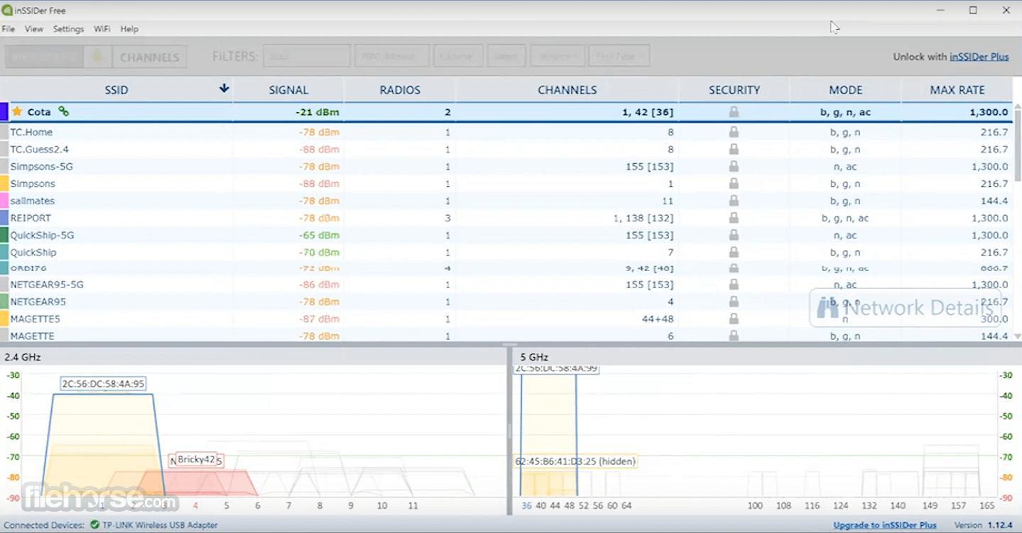 inSSIDer 5.2.25 Screenshot 1
