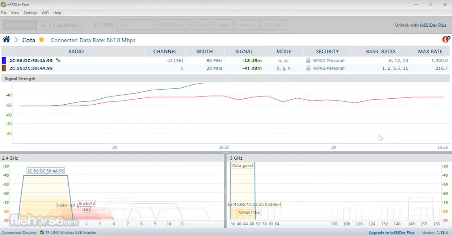 inSSIDer 5.2.25 Screenshot 2