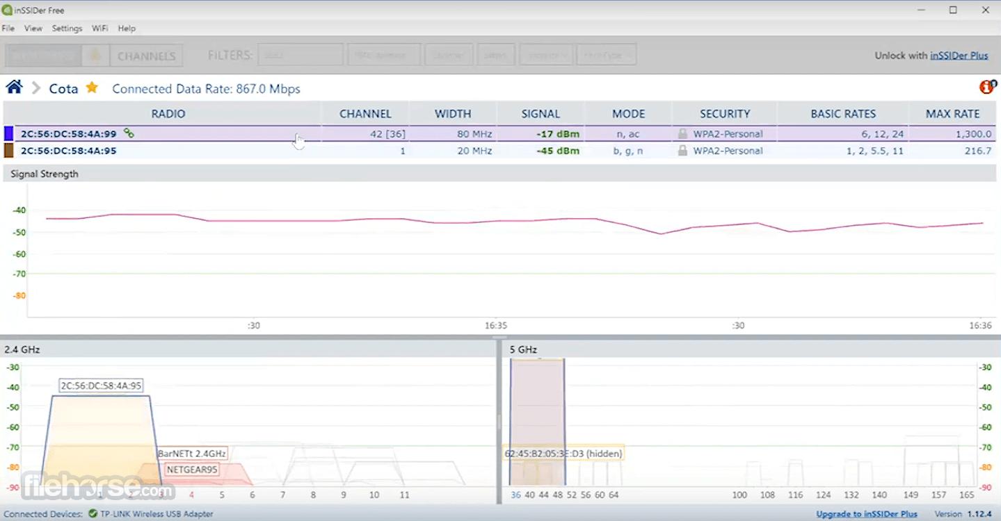 inSSIDer 5.2.25 Screenshot 3