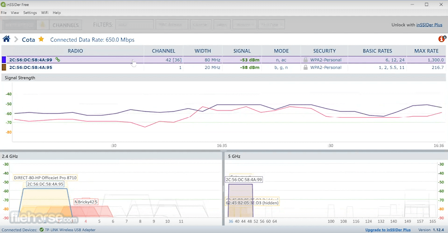 inSSIDer 5.2.25 Screenshot 4