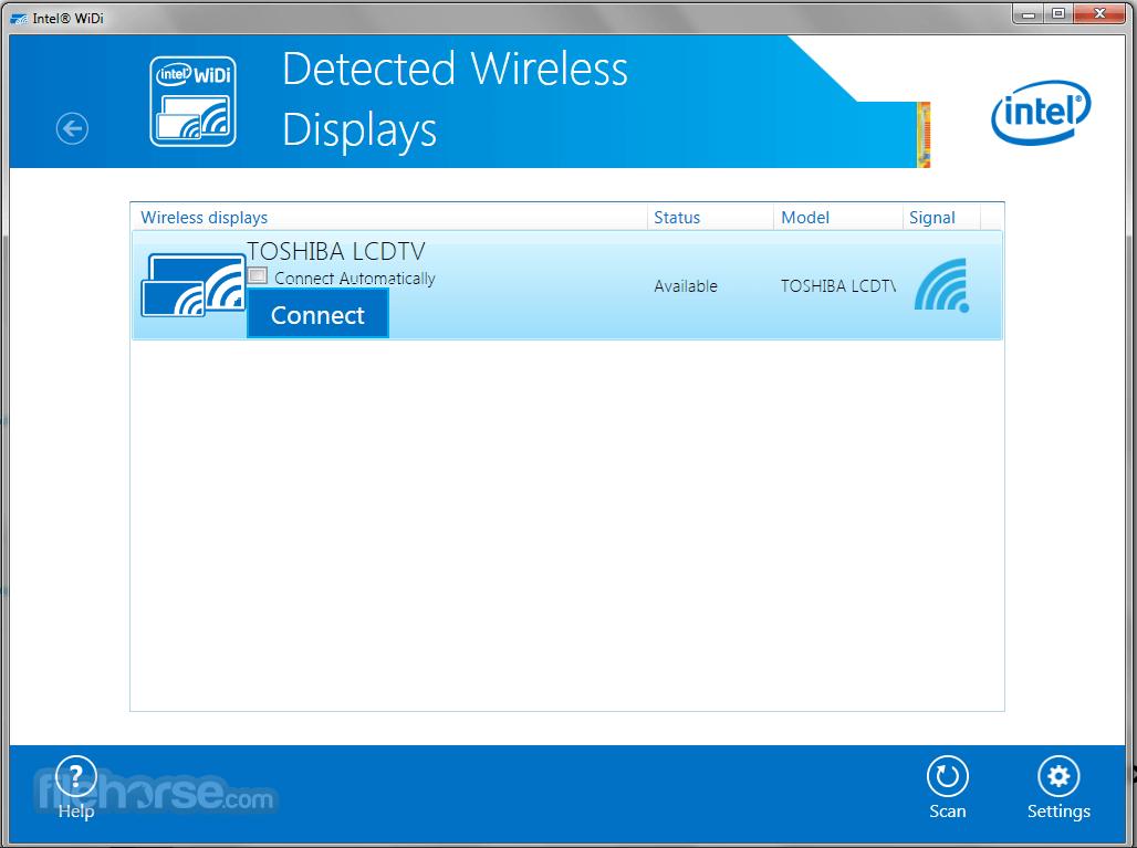 Intel Wireless Display 6.0.60 Captura de Pantalla 1