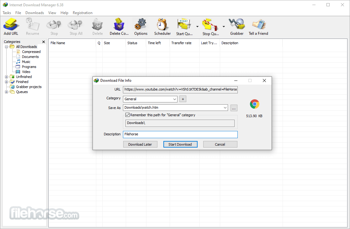 Internet Download Manager 6.38 Build 2 Captura de Pantalla 2