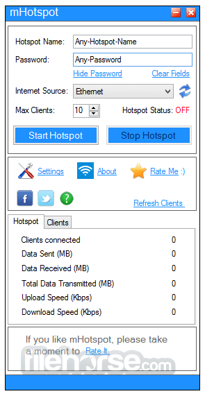 Mhotspot 7. 8. 8. 0 download for windows / old versions / filehorse. Com.