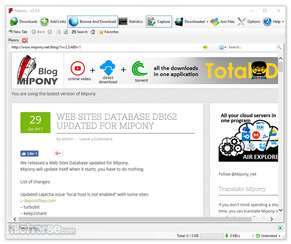 Mipony 3 0 5 Download for Windows / Change Log / FileHorse com