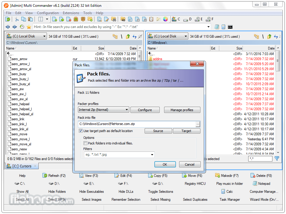 Multi Commander 8.3.0 Build 2469 (32-bit) Screenshot 3