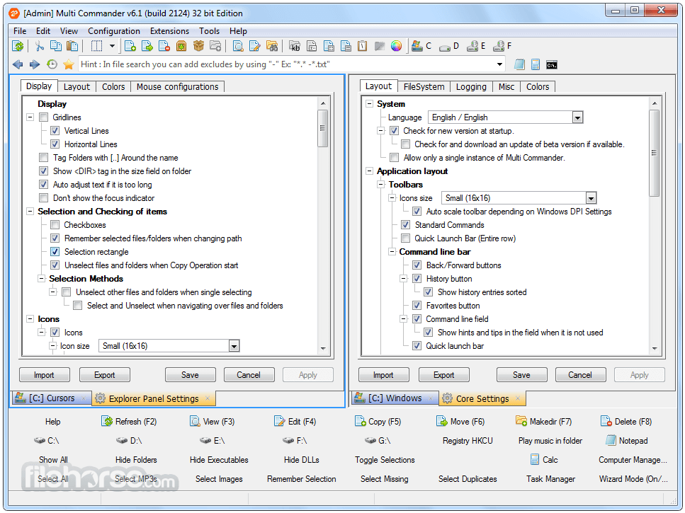 Multi Commander 8.3.0 Build 2469 (32-bit) Screenshot 5