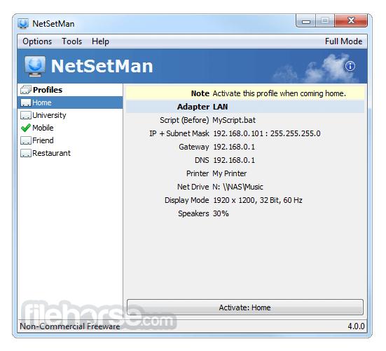 NetSetMan 4.7.2 Captura de Pantalla 2
