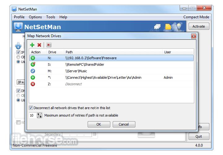 NetSetMan 4.7.2 Captura de Pantalla 4