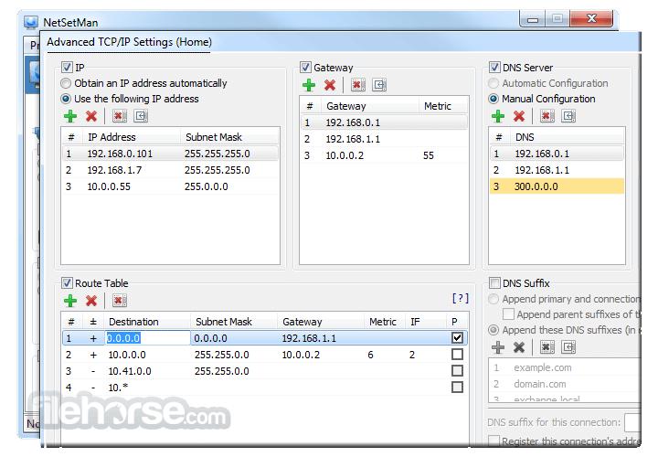 NetSetMan 4.7.2 Captura de Pantalla 5
