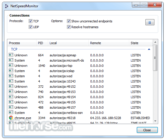 NetSpeedMonitor 2.5.4.0 (32-bit) Screenshot 1