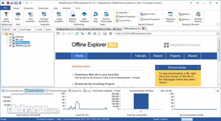 Offline Explorer Pro Download (2019 Latest) for Windows 10, 8, 7