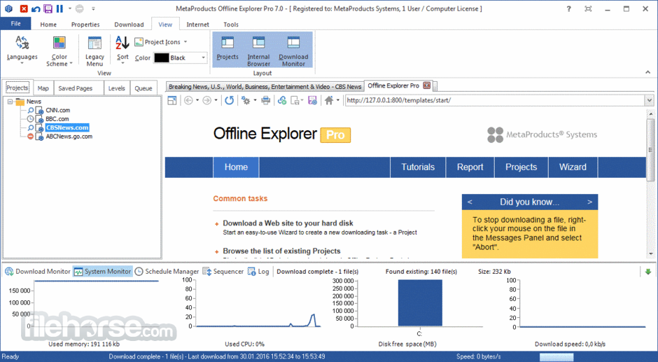 Offline Explorer Pro 7 7 Build 4640 Download for Windows