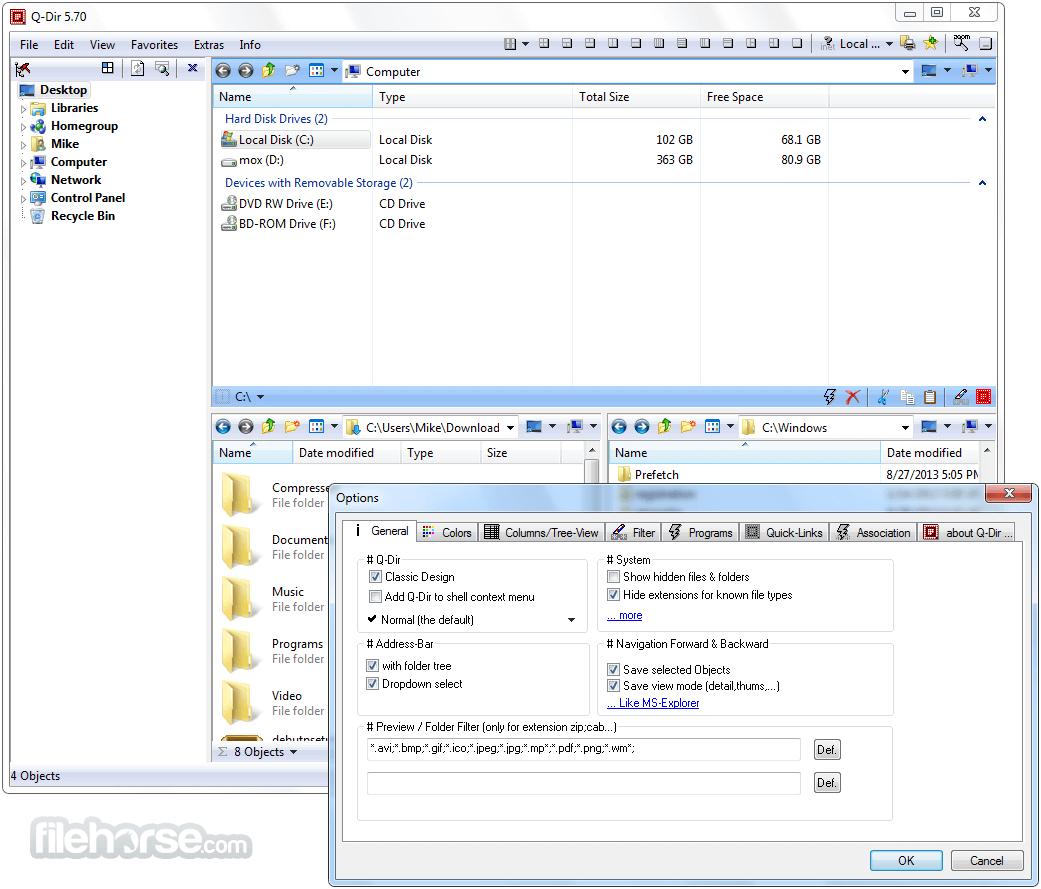Q-Dir 6.84 (64-bit) Captura de Pantalla 3