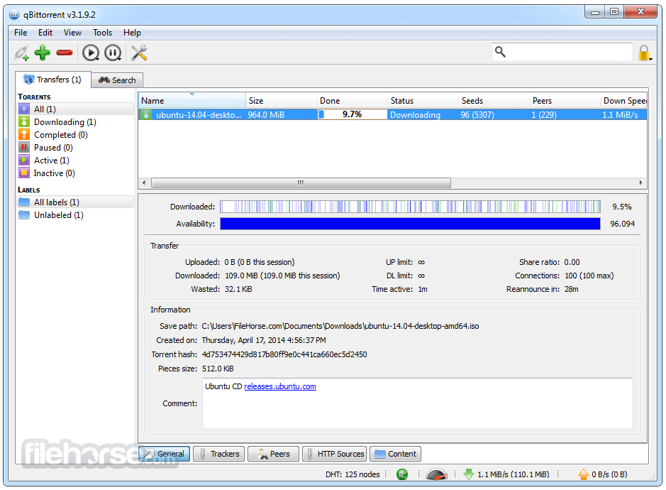 qBittorrent 4.3.3 (64-bit) Screenshot 2
