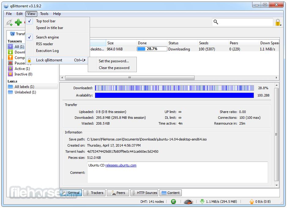 qBittorrent 4.3.3 (64-bit) Screenshot 4