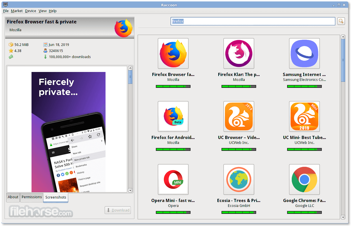 Raccoon 4.15.0 Screenshot 1
