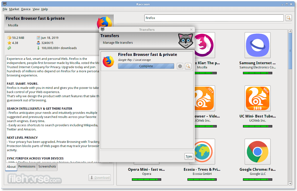 Raccoon 4.15.0 Screenshot 2