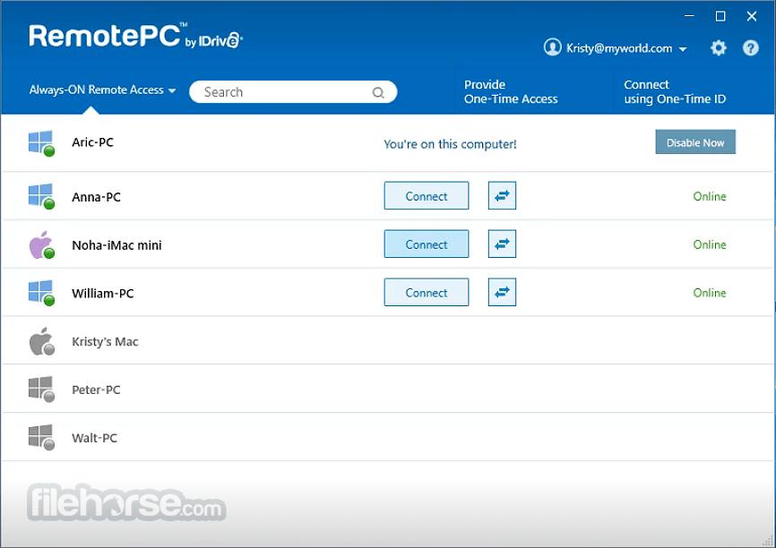 RemotePC 7.6.45 Captura de Pantalla 3