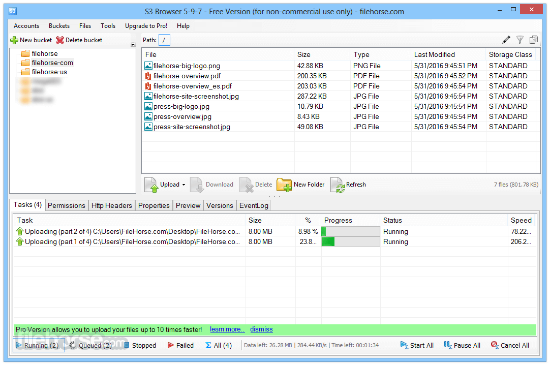 S3 Browser 7.4.5 Captura de Pantalla 1