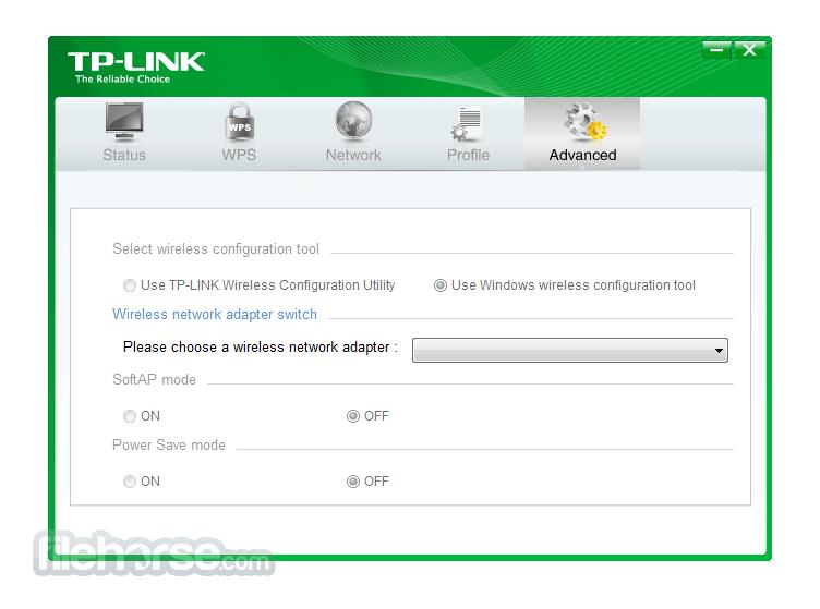 TP-LINK TL-WN821NC V4 Wireless Configuration Utility Captura de Pantalla 1