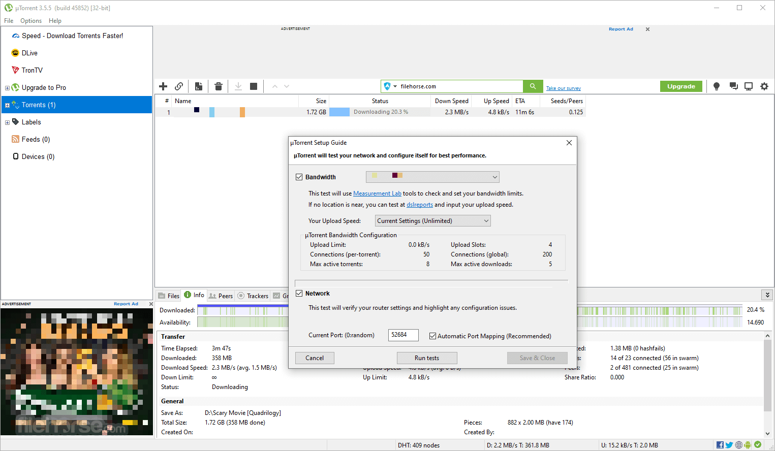 uTorrent 3.5.5 Build 45660 Screenshot 4