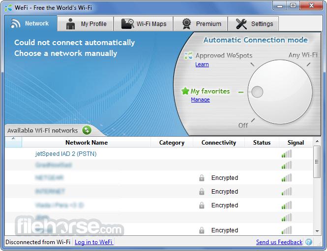 WeFi 4.0.1.0 Captura de Pantalla 1