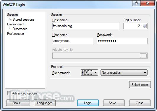 WinSCP 5.11.3 Captura de Pantalla 1