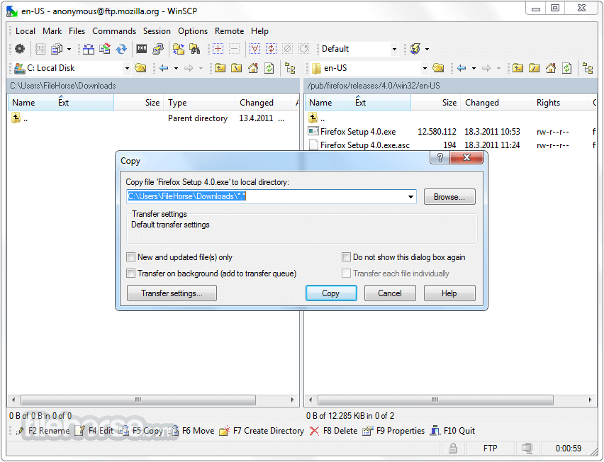 WinSCP 5.13.3 Screenshot 2