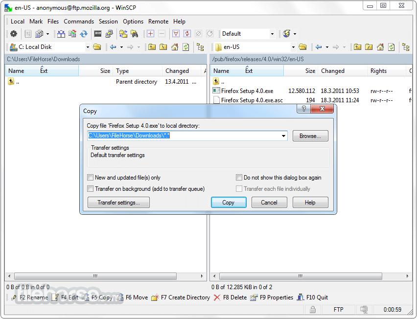 WinSCP 5.11.3 Captura de Pantalla 2