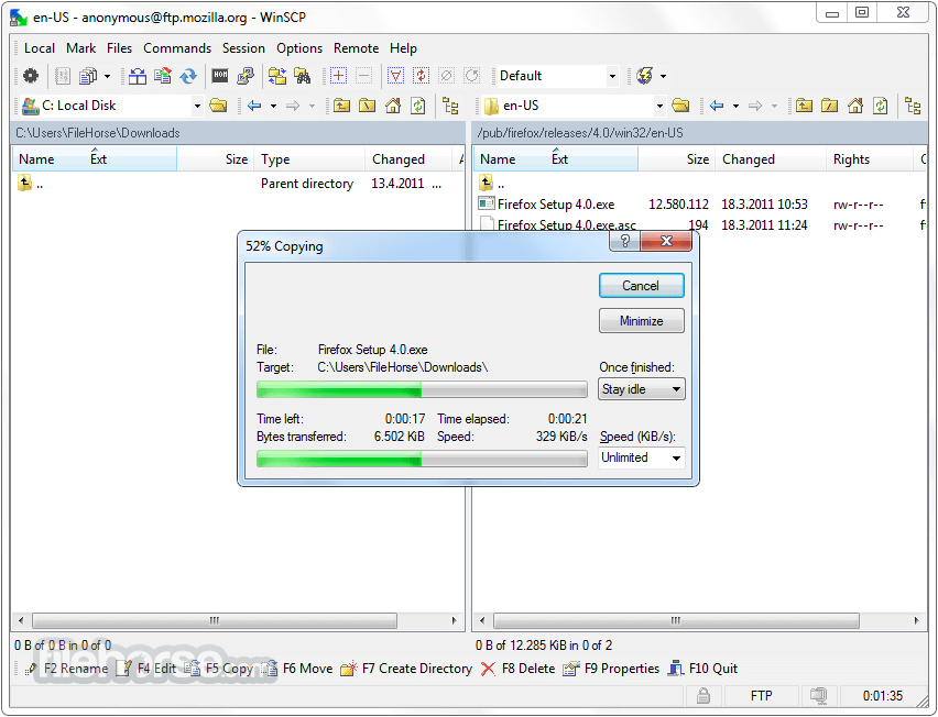 WinSCP 5.15.4 Screenshot 3