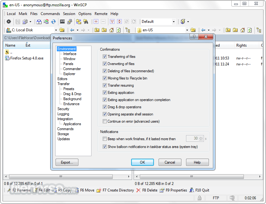 WinSCP 5.13.3 Screenshot 5