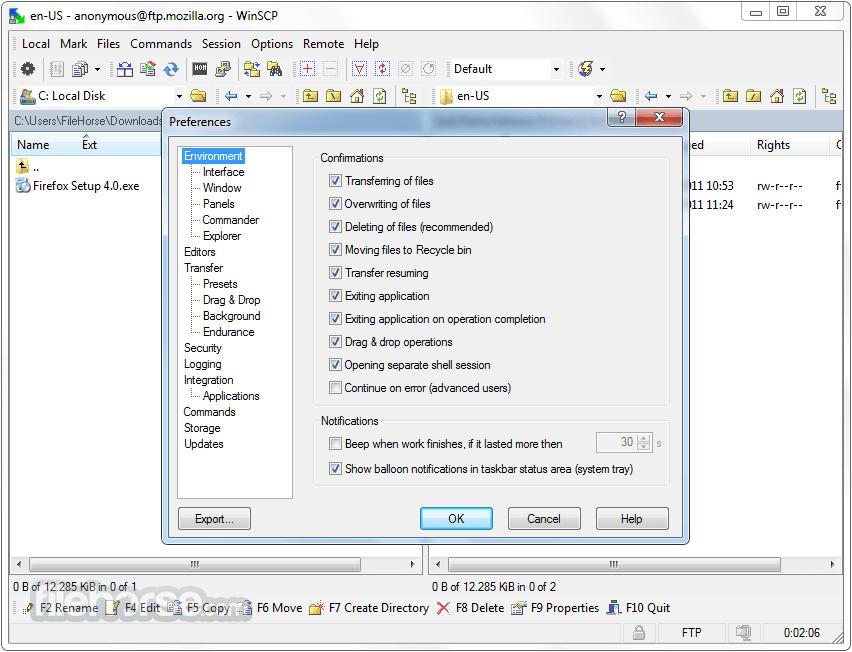 WinSCP 5.11.3 Captura de Pantalla 5