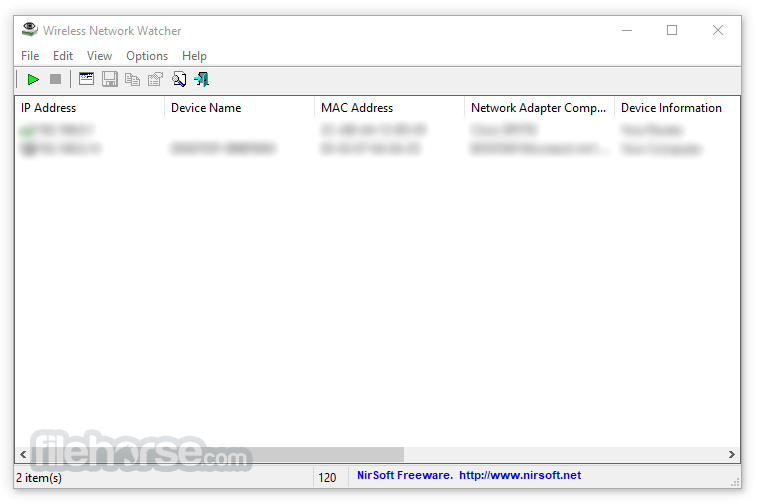 Wireless Network Watcher 2.18 Captura de Pantalla 1