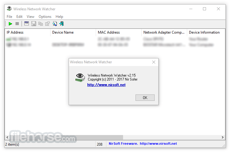 Wireless Network Watcher 2.18 Captura de Pantalla 2