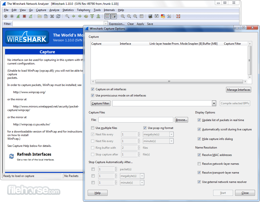 Wireshark 2.6.1 (32-bit) Captura de Pantalla 2