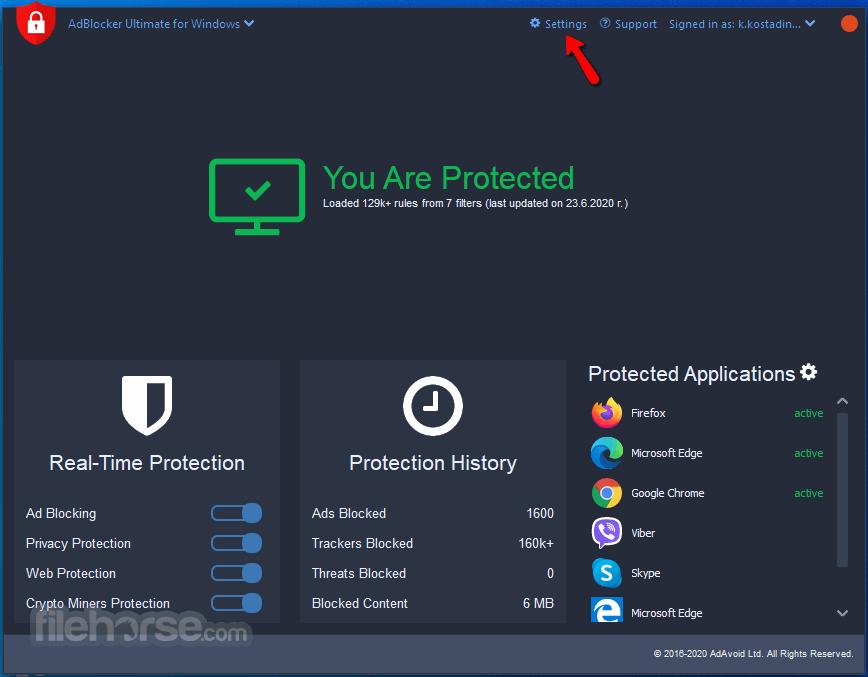 AdBlocker for Windows 3.21.0 Screenshot 1
