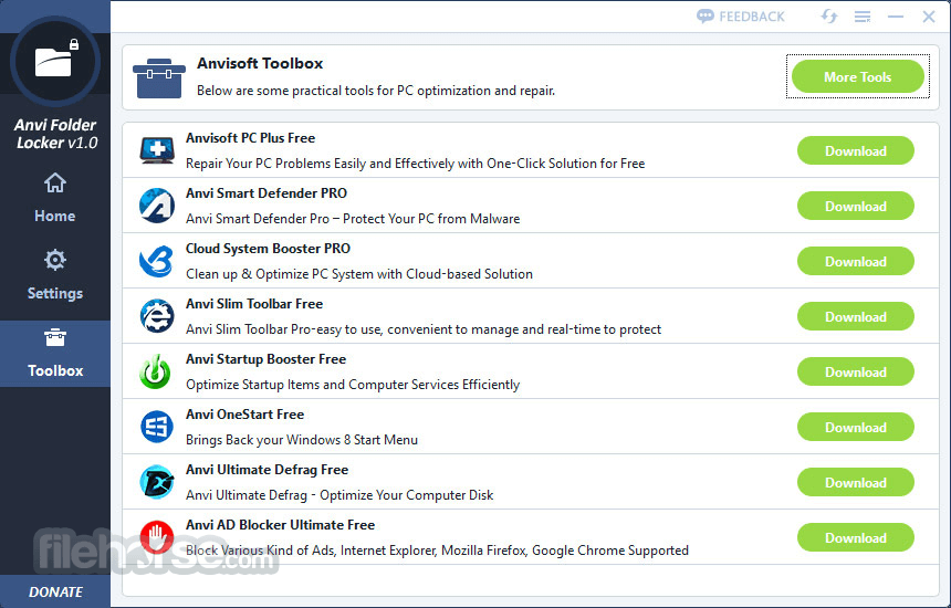 Anvi Folder Locker 1.2.1370.0 Captura de Pantalla 5
