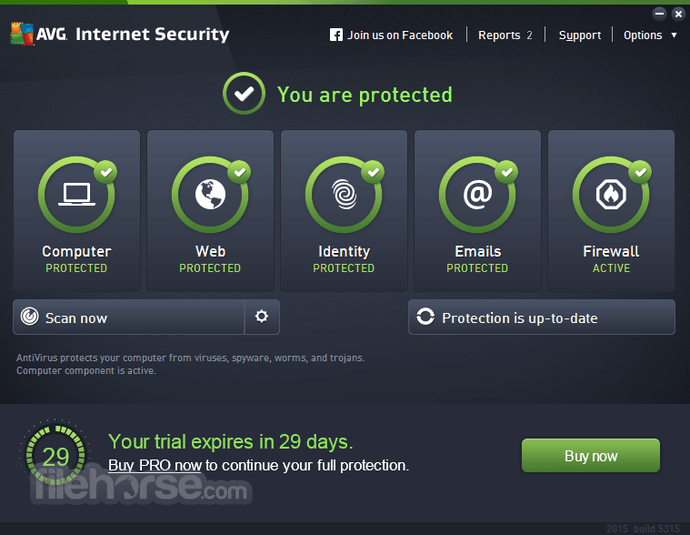 AVG Internet Security 18.2 Build 3046 (32-bit) Captura de Pantalla 1