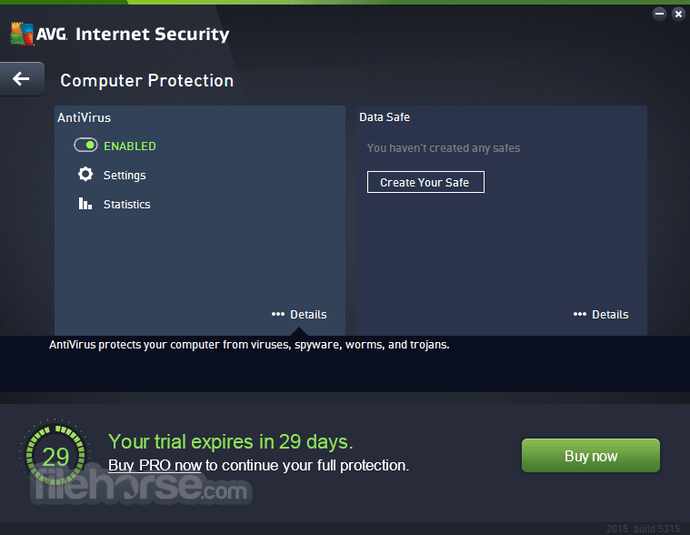 AVG Internet Security 18.2 Build 3046 (32-bit) Captura de Pantalla 2