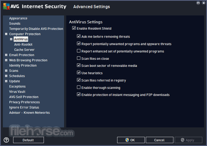 AVG Internet Security 18.2 Build 3046 (32-bit) Captura de Pantalla 3