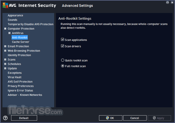AVG Internet Security 18.2 Build 3046 (32-bit) Captura de Pantalla 4