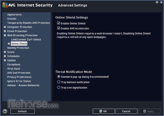 AVG Internet Security 18.2 Build 3046 (32-bit) Captura de Pantalla 5