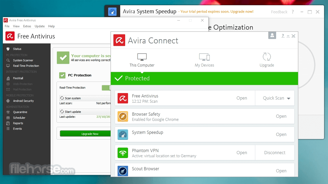Avira Free Security Suite 1.2.109.23126 Captura de Pantalla 1