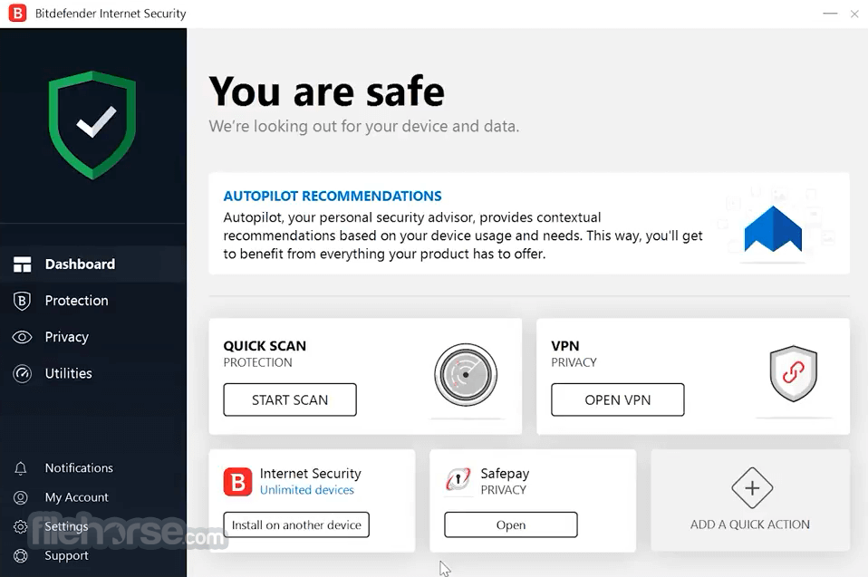 Bitdefender Internet Security 2019 Build 23.0.8.17 (64-bit) Screenshot 1