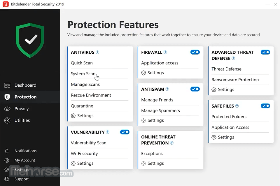 Bitdefender Total Security 2018 Build 23.0.8.17 (32-bit) Captura de Pantalla 3